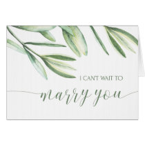 I Cant Wait to Marry You Wedding Card