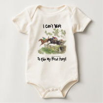 I Can't Wait To Ride My First Pony! Cross-Country Baby Bodysuit