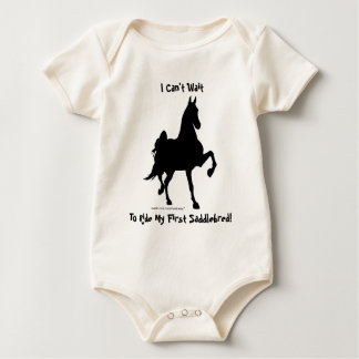 I Can't Wait To Ride My First Saddlebred! Baby Bodysuit