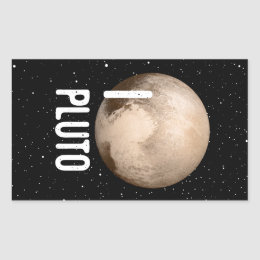 I Cardiac Pluto Rectangular Sticker