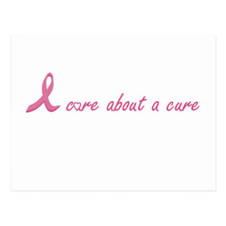 I care about a cure postcard