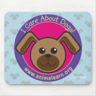 I care about dogs mouse pad