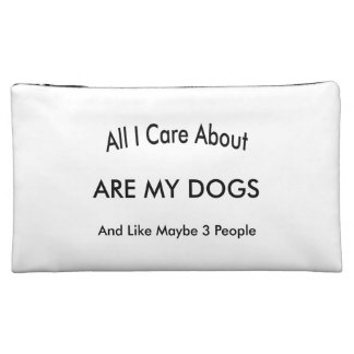 I Care About My Dogs Makeup Bag