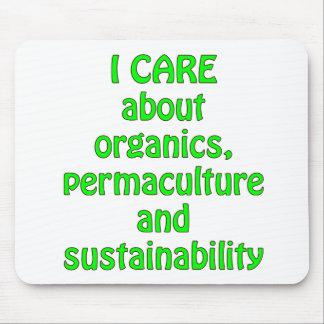 I Care About Organics Mouse Pad