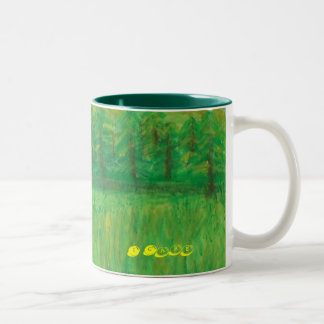 I Care About the Environment Green Mug