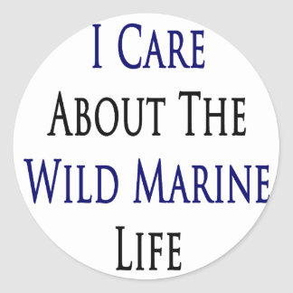 I Care About The Wild Marine Life Stickers