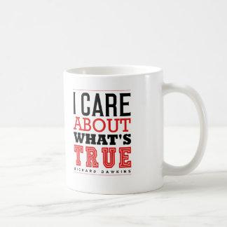 I CARE ABOUT WHAT'S TRUE - Dawkins Coffee Mug