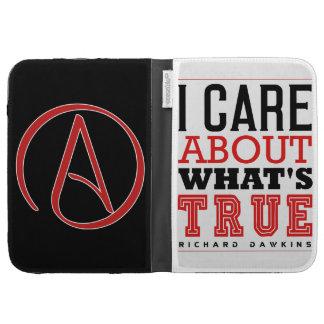I CARE ABOUT WHAT'S TRUE - Dawkins Kindle Folio Case