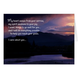 I care about you...Reassurance and support Card