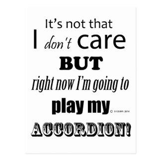 I Care Accordion Postcard