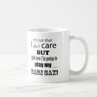 I Care Bari Sax Classic White Coffee Mug