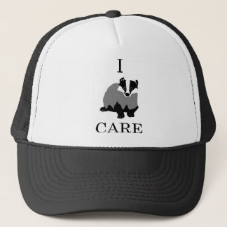 """I Care"" European Badger Trucker Hat"