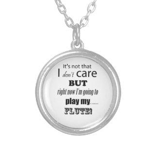 I Care Flute Necklace