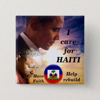 I Care for Haiti_ Button