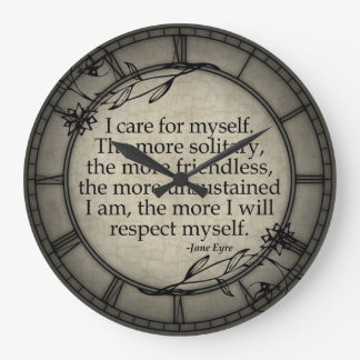 I Care For Myself Large Clock