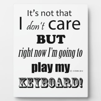 I Care Keyboard Photo Plaques