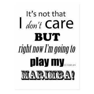 I Care Marimba Postcard