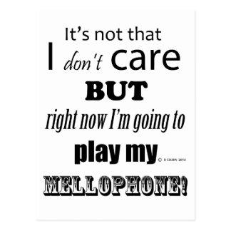 I Care Mellophone Postcard