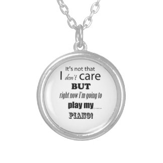 I Care Piano Personalized Necklace