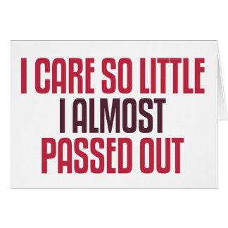 I Care So Little Card