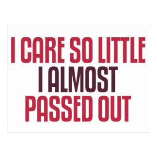 I Care So Little Postcard
