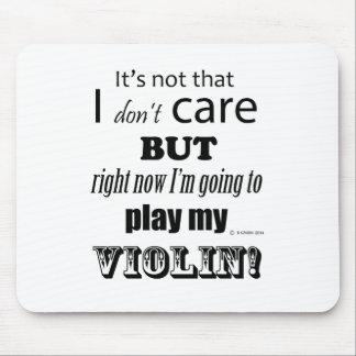 I Care Violin Mouse Pad