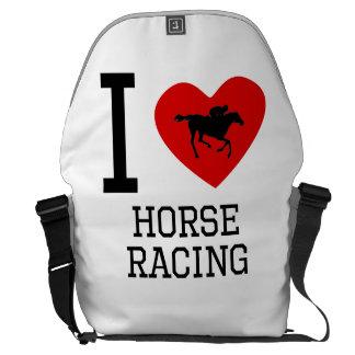 I carrera de caballos del corazón bolsas messenger