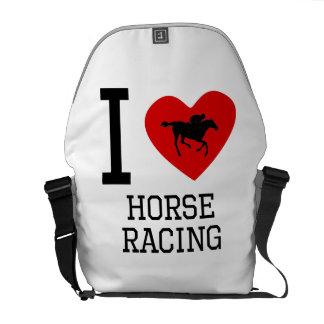 I carrera de caballos del corazón bolsas de mensajería