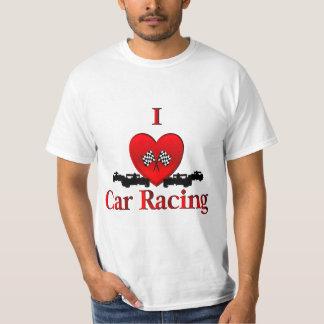 I carreras de coches del corazón poleras