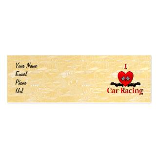 I carreras de coches del corazón plantillas de tarjeta de negocio