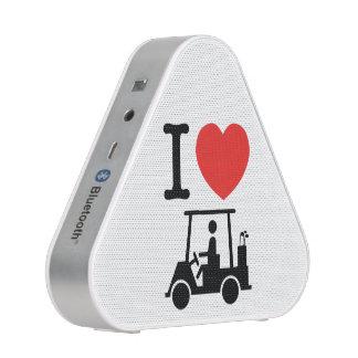 I carro de golf del corazón (amor) altavoz bluetooth