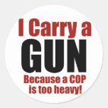 I Carry a Gun Classic Round Sticker