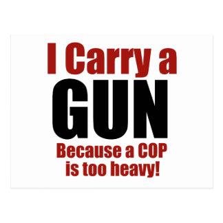 I Carry a Gun Postcard