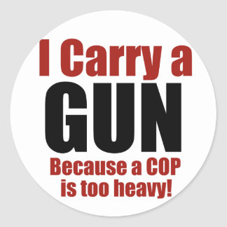 I Carry a Gun Sticker