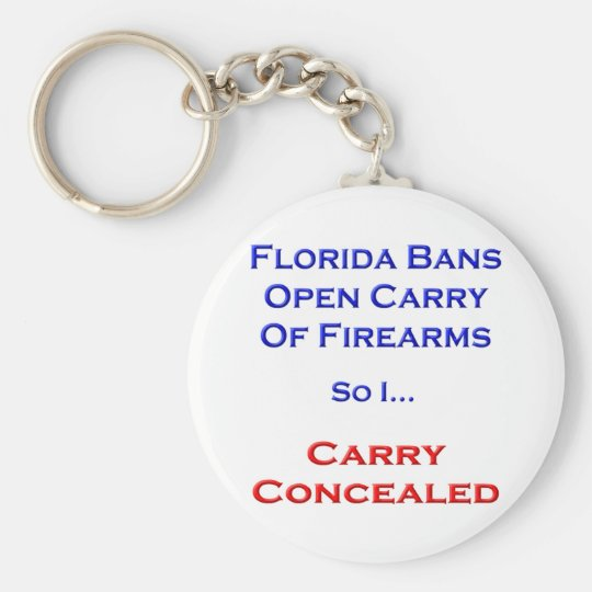 I Carry Concealed Keychain