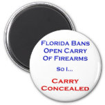 I Carry Concealed Refrigerator Magnets