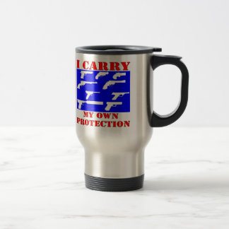 I Carry My Own Protection (Guns) Travel Mug