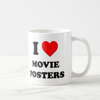 I carteles de película del corazón tazas de café