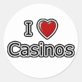 I casinos del corazón pegatina redonda