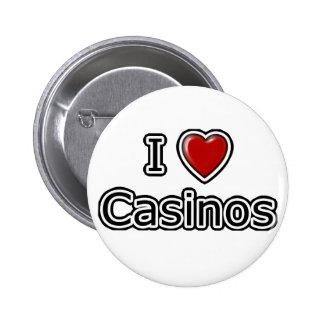 I casinos del corazón pin redondo de 2 pulgadas