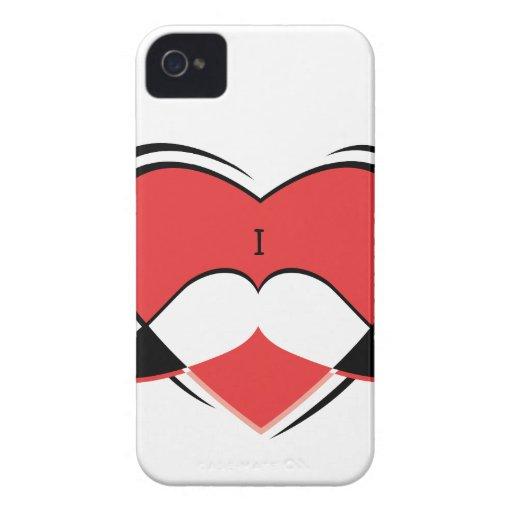 I/caso conocido del iPhone 4 del bigote del amor iPhone 4 Protectores