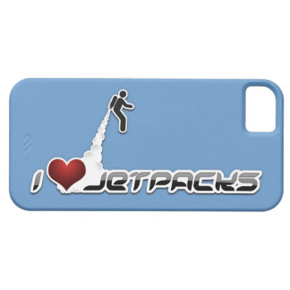 I caso del iphone 5 de Jetpacks del corazón iPhone 5 Carcasas