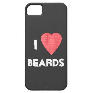 I caso del iPhone 5 de las barbas del corazón iPhone 5 Carcasas