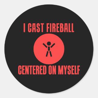 I Cast Fireball Classic Round Sticker
