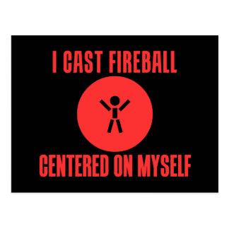 I Cast Fireball Postcard