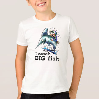 I Catch Big Fish Funny Kids T-shirts