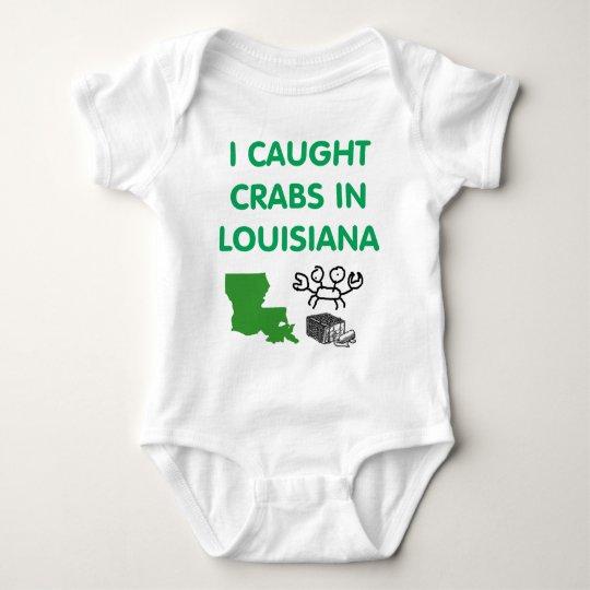 I CAUGHT CRABS IN LOUISIANA BABY BODYSUIT