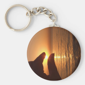 I caught the sun for you basic round button keychain