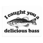 I Caught You A Delicious Bass Postcard