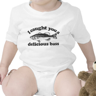 I Caught You A Delicious Bass Baby Bodysuits